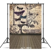 vintage grunge butterfly flower wall vinyl photographic background customized for portrait children backdrop studio photocall