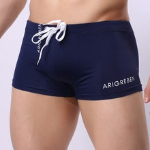 4 Colors Sexy Men's Boxer Briefs Swimming Men's Shorts Swimming Swim Trunks Shorts Slim Sexy Swimwear Pants Gifts sunga praia