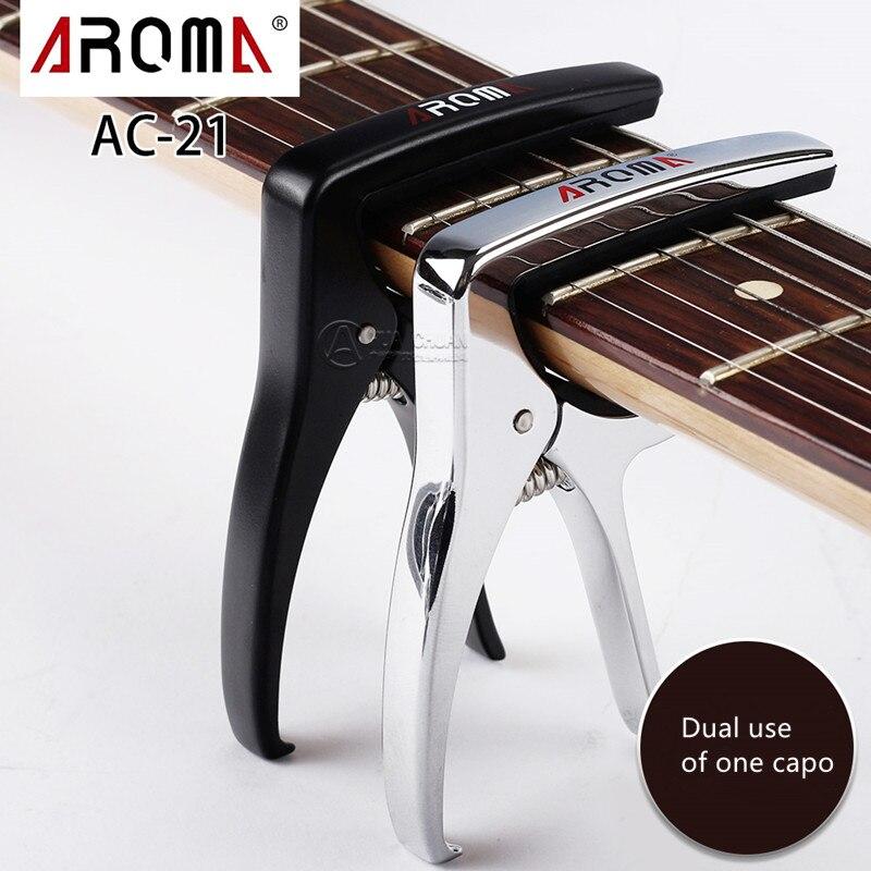 AROMA guitare Capo AC21 pour acoustique électrique Folk haute qualité matériaux métalliques accessoires guitare