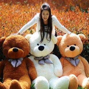 "78""  200cm Giant Size Finished Stuffed Teddy Bear Christmas Gift Hot Sale  Big Size Teddy Bear Plush Toy  Birthday Gift"