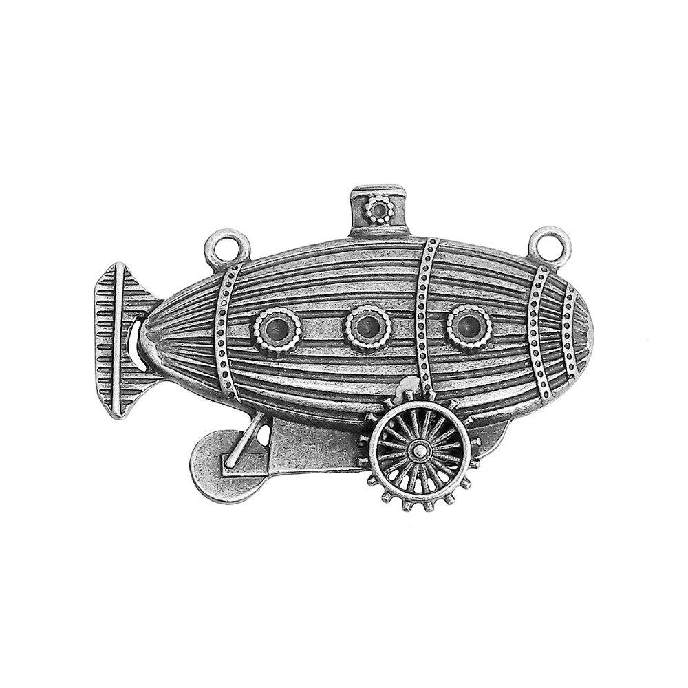 DoreenBeads сплав на основе цинка античная бронза серебряный цвет стимпанк разъемы лодка шестерни Мода DIY Componets 49 мм x 33 мм, 2 шт