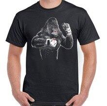 Boxe gorille hommes T-Shirt drôle Mma Muay Thai Kick boxe haut dentraînement hommes 2019 nouveau à manches courtes Hipster mâle t-shirts chemise