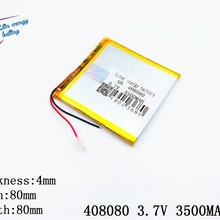 best battery brand Size 408080 3.7V 3500mah Lithium polymer Battery with Protection Board For PDA Ta
