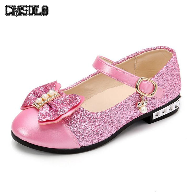 CMSOLO Children Princess Shoes New 2019 Girls Sequins Wedding Party Kids Baby Infants Hot Shoes for