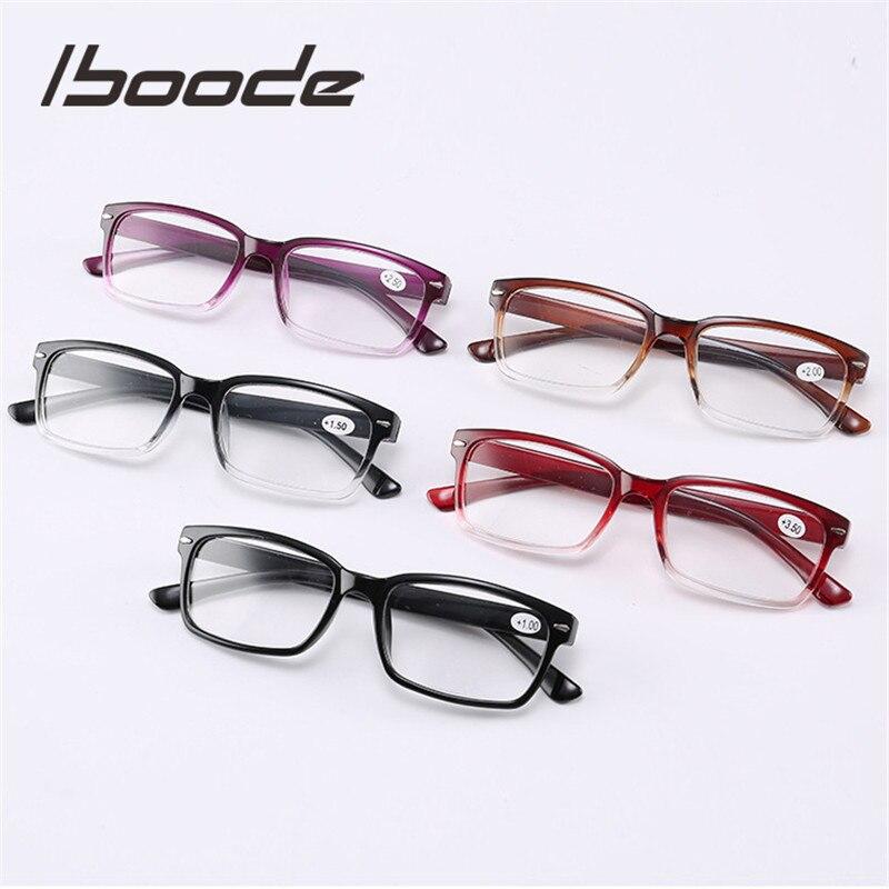 Iboode Ultra luz gafas de lectura de las mujeres de los hombres gafas Unisex la presbicia gafas con 1,0, 1,5, 2,0, 2,5, 3,0, 3,5, 4,0 dioptrías