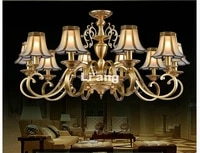 european newly brass chandelier antique brass chandelier vintage total copper glass ac110v220v 100 guaranteed free shipping