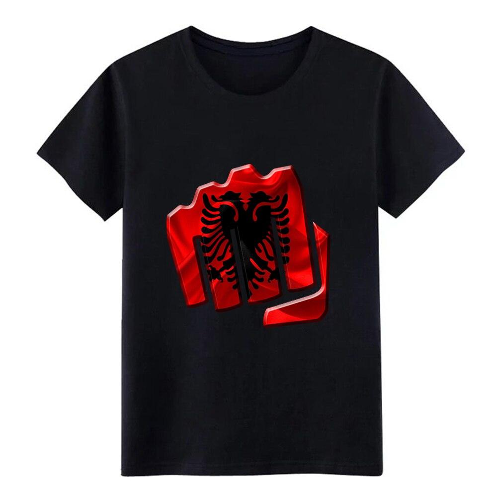 Camiseta de Albania para hombre de algodón personalizado talla grande 3xl Ajuste Original cómoda primavera otoño camisa Normal