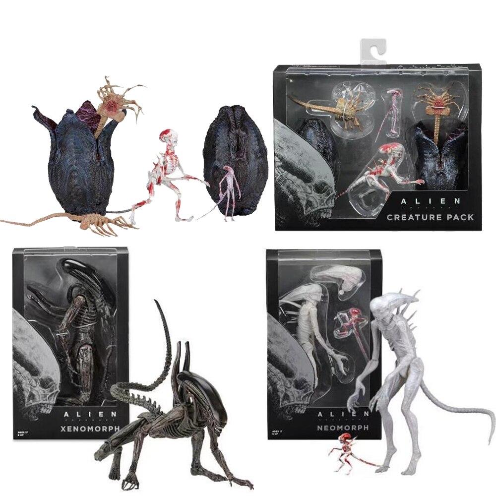 Película AVP Aliens vs Predater figura serie alienígena Pacto xenomorfo Neomorph criatura Pack PVC modelo de figuras de acción juguete para regalo