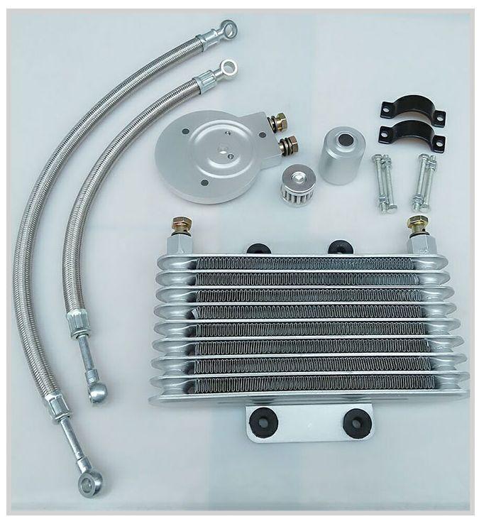 Sistema de radiador del motor de aceite del enfriador de aceite de la motocicleta conjunto completo para LIFAN LF250-B QJ250-J QJIANG para XV125 XV250