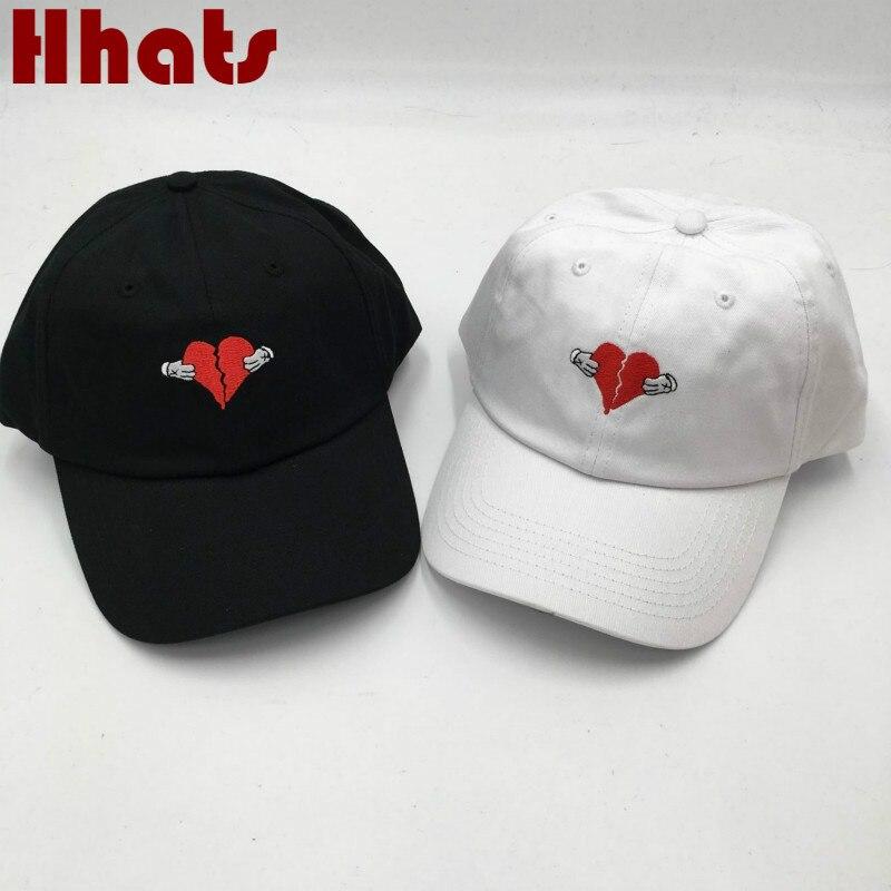 Неструктурная вышитая разбитая шляпа для папы с сердцебиением Фирменная бейсболка для женщин и мужчин бейсболка кепка водителя грузовика