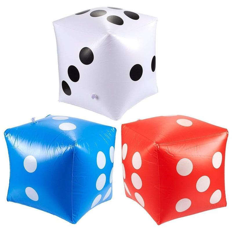 Cubo inflável para piscina, dado engraçado para atividades ao ar livre de 30*30cm para crianças e adultos brinquedos, brinquedos