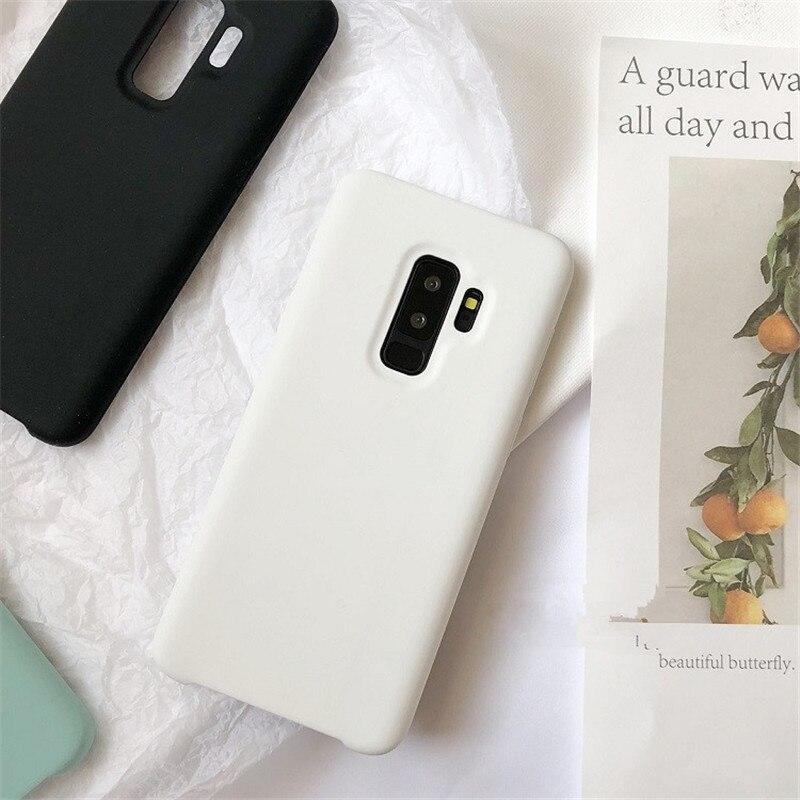 DCHZIUAN Original Soft Silicone Case For Samsung Galaxy Note 8 S8 S9 Plus Pure Color Luxury Cover for Samsung S8 Plus Case LOGO