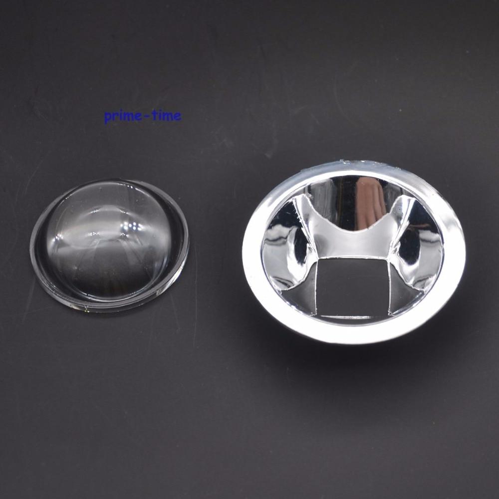 Светодиодные стеклянные линзы 44 мм, 60 градусов + рефлекторный Коллиматор, набор для светодиодов высокой мощности 10 Вт
