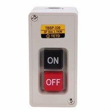 Новый TBSP-330 3-фазный замок вкл/выкл, кнопочный переключатель 3,7 кВт 30А для текстильного оборудования