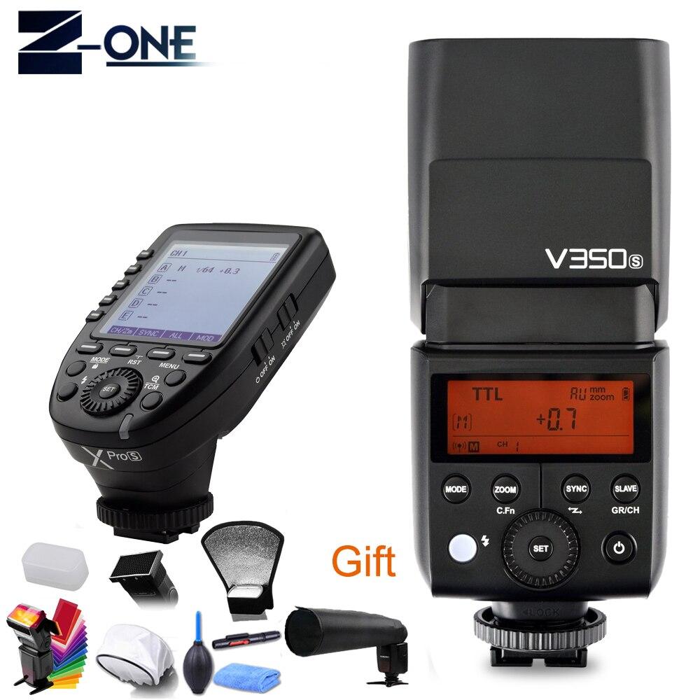 Godox V350S HSS 1/8000s GN36 Li-Ion TTL Cámara Flash 0,1 s ~ 1,7 reciclar + Xpro-s transmisor Kit para Sony A77 II A99 A9 A7R III