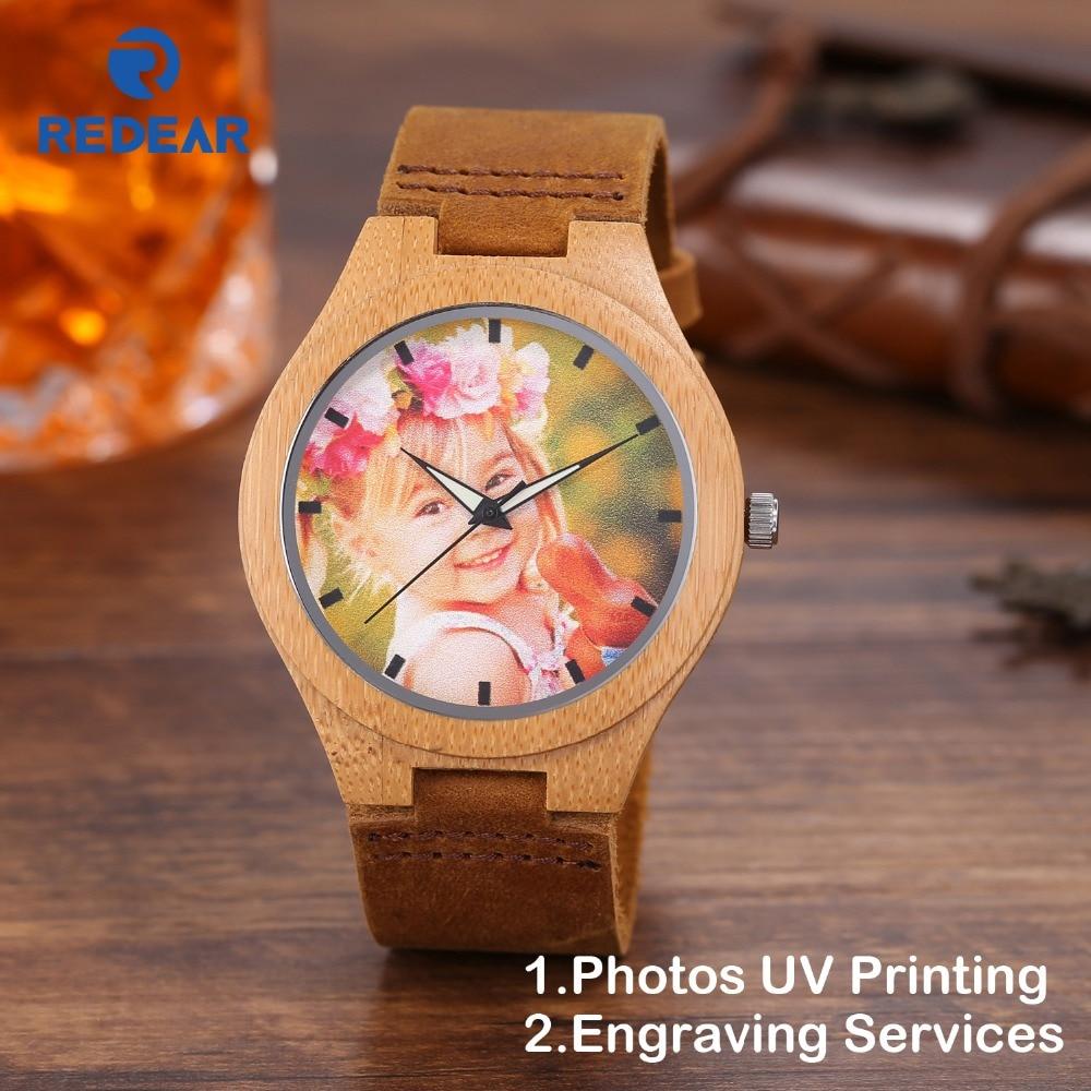 Креативный подарок деревянные часы Для мужчин Для женщин любителей фото УФ печать на деревянные часы OEM подарок мужчине часы свадьба день р...