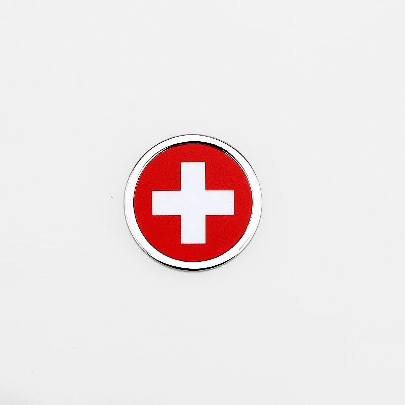 Для Швейцарского Флага логотип автомобиля Наклейка круглая эмблема значок аксессуары для Vauxhall Yamaha Honda Subaru Mitsubishi LOTUS Ford ISUZU Jeep