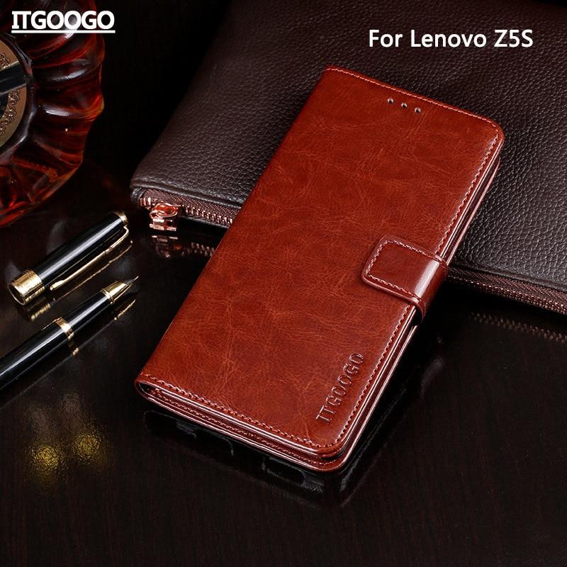Funda para Lenovo Z5S, funda de piel con tapa de gran calidad para Lenovo Z5S, funda para teléfono, funda tipo cartera