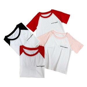 Семейные комплекты летняя одежда «Мама и я» одежда с короткими рукавами для всей семьи, одежда для папы, мамы и детей с надписью mama i corka