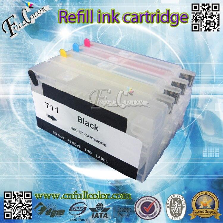 711 cartucho recargable con Chip de reinicio Compatible T120 T520 sistema de tinta de impresora envío gratis