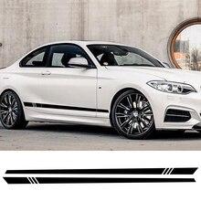 2 pièces voiture autocollant rayure Auto côté jupes décalque vinyle Film pour Audi BMW Ford VW Toyota Mercedes universel voiture Tuning accessoires