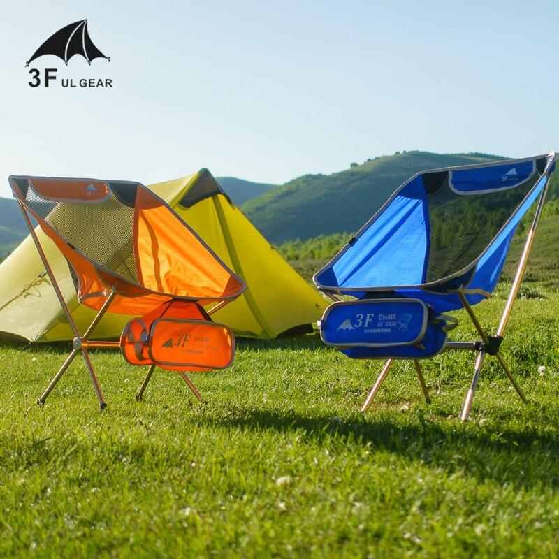 3F UL Gear silla plegable de aluminio para barbacoa Camping pesca