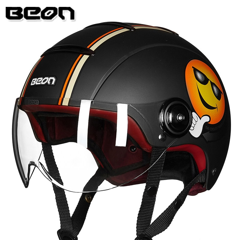BEON B-105 motorcycle half helmet vintage capacete retro motocicleta motorbike scooter summer casco for men women ECE Approved