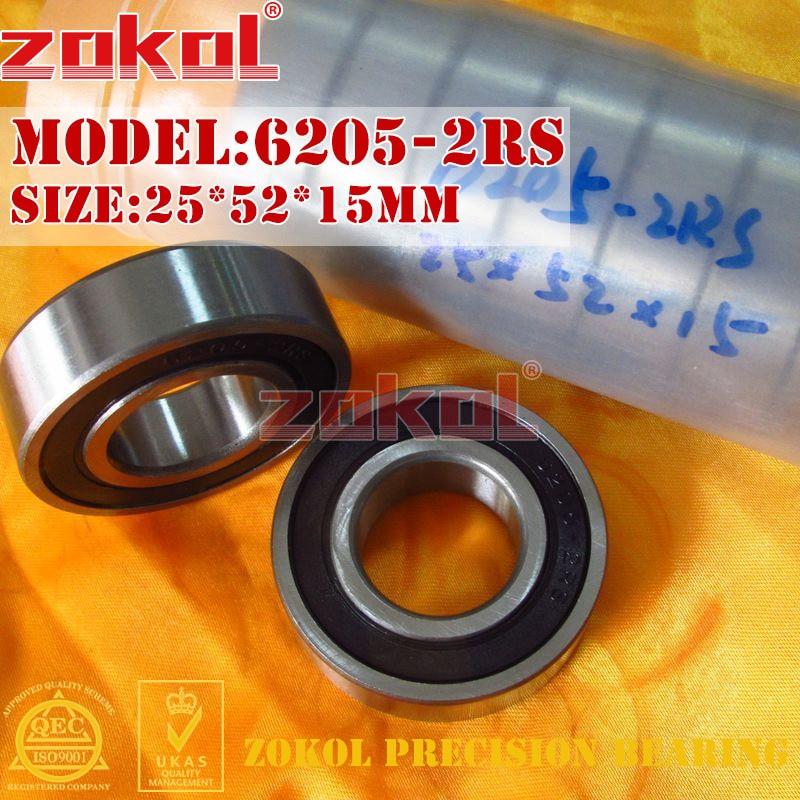 ZOKOL 6205RS bearing 6205 2RS RS Z3V3 6205ZZ S6205ZZ Deep Groove ball bearing 25*52*15mm