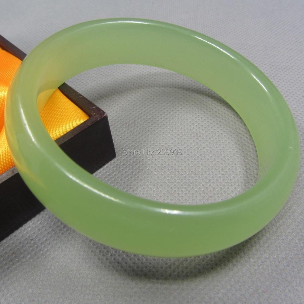 Huij 00555 Jade Bangles pulseras jadeíta Vtg joyería envío gratis