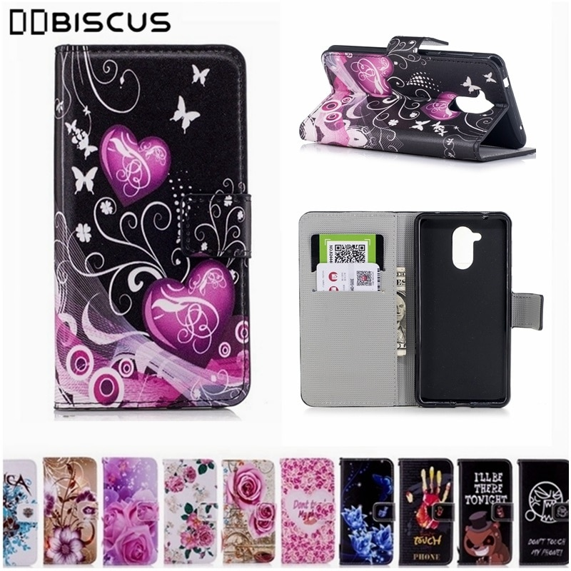 Malerei luxus Leder Flip Brieftasche TPU Abdeckung Für Huawei Ehre 6C Pro 6 C JMM-L22 Fällen DIG-L01 DIG-L21 DIG-L21HN Funda fall