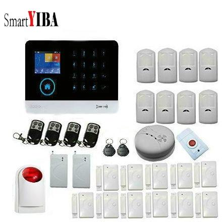 SmartYIBA, esfera automática, sirena para exteriores, WIFI inalámbrico, alarma antirrobo para el hogar, protección de negocios, con Sensor de choque inalámbrico, botón de pánico
