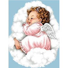 Diamante Pintura Religiosa Anjo Bebê Imagem Kit Costura Strass Nova Casa Pintura Decorativa anjo Bonito menina