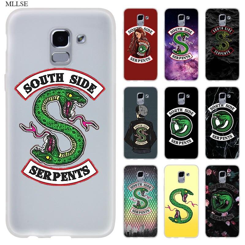 Riverdale South Side Serpents Case for Samsung J8 J4 J6 Plus 2018 J5 J3 J7 2017 EU 2016 Prime Silicone Phone Coque Cover Fundas
