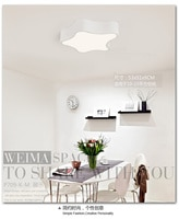 modern led star shape ceiling lighting lamp bedroom modern minimalist personalized restaurant room study lamp