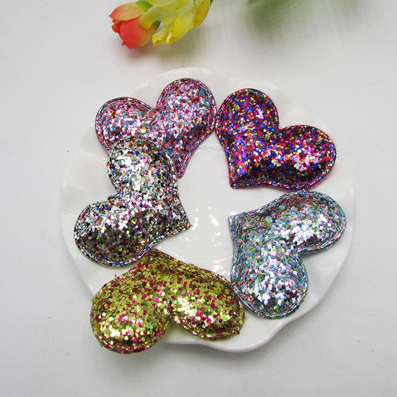 Glitter Felt Appliques DIY Craft Hair Bow Center DIY Handmade Material 12 Pcs Non Woven Patches Clothes Sewing Supplies