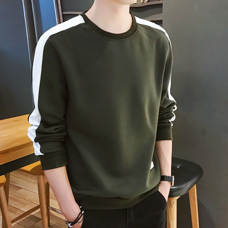 Männer Hoodies Langarm Sweatshirt 2020 Winter Feste Farbe Armee Grün Sweatshirt Streetwear Schlank Hoodies Männer M-4XL Große Größe