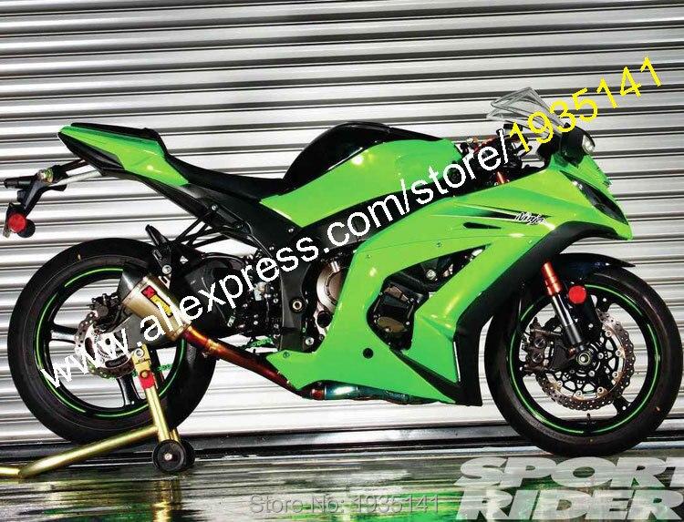 Para Kawasaki Ninja ZX10R 11 12 13 14 15 ZX 10R ZX-10R 2011-2015 Corpo Kit Carenagem Moto Verde (moldagem por injeção)