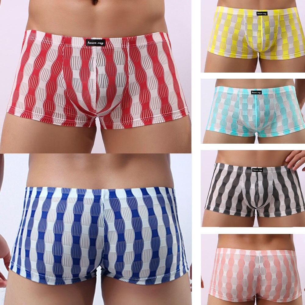 2020 pantalones translúcidos de tiro bajo para Hombre Ropa interior Sexy cómoda ropa interior transpirable ropa de dormir