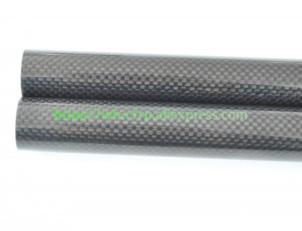 Купить с кэшбэком OD 14mm X ID 10mm X 12mm X 13mm x Length 500mm Carbon Fiber Tube (Roll Wrapped), with 100% full carbon 14*10  14*12   14*13