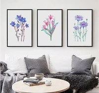 nordic style 3 pieces canvas paintings colorful flowers decorative paintings decoration for living room painted on canvas