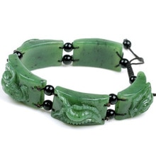 Bracelet en jade véritable et néphrite bracelet en jade naturel certificat de ceinture vert jade aux épinards Wudu