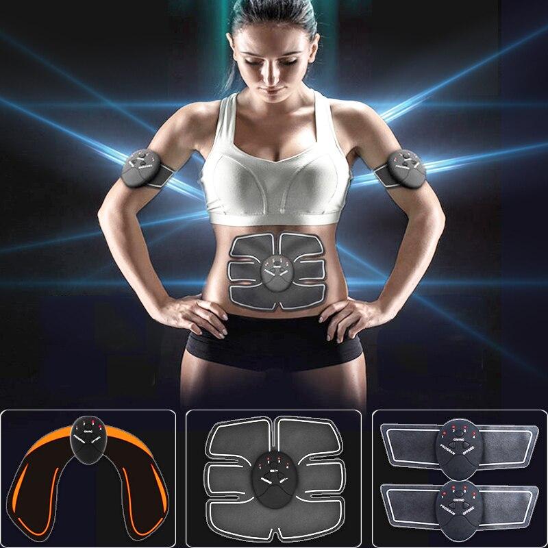Ems músculo abs estimulador Abdominal cadera entrenador eléctrico masajeador de vibración pérdida de peso relajación cinturón para adelgazar cuerpo Unisex