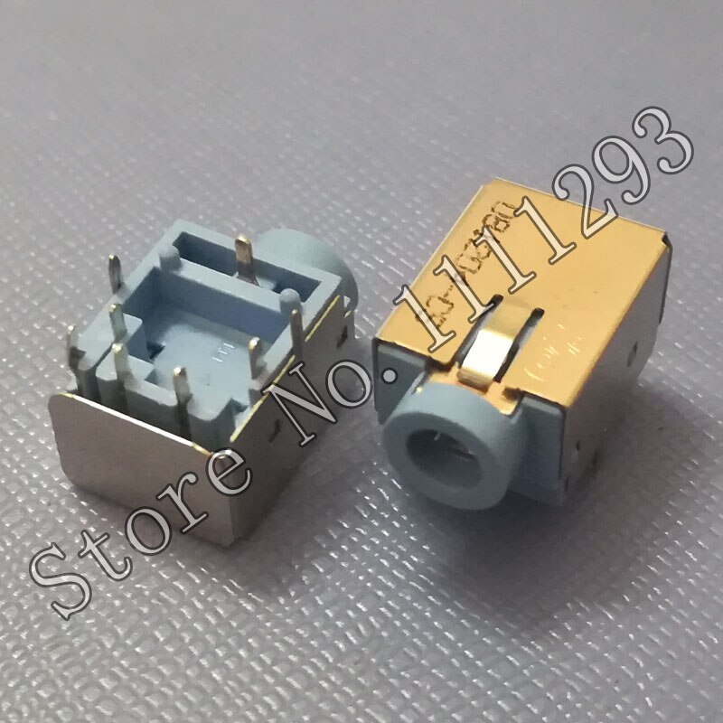 10 unids/lote conector de Audio para auriculares para Acer Laptop 8-pin azul