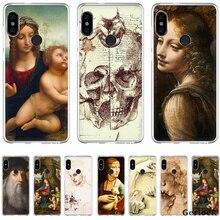 Tpu Fall Italien Leonardo Da Vinci Kunst Arbeit Malerei Abdeckung Für Xiaomi Xiaomi Redmi Hinweis 4 4A 5A 5 Plus 6 67 GEHEN S2 6A Pro S2 Shell