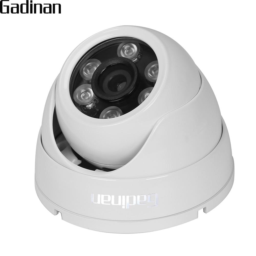GADINAN HD AHD 3MP 4MP Cámara gran angular 2,8mm opcional domo de Metal a prueba de vandalismo CCTV cámara de vigilancia de seguridad 6 matriz IR