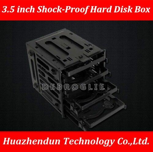 DEBROGLIE كوريا 3R للصدمات قرص صلب قفص صندوق 3.5 بوصة صدمة واقية قرص صلب قوس توفير مساحة وضعت في 4 قطعة HDD/SSD