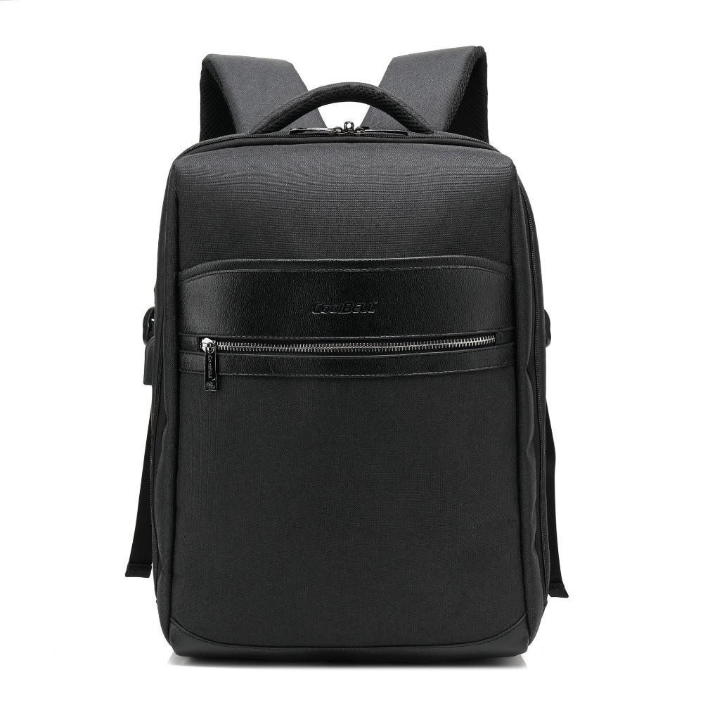 Bolso para ordenador portátil coolbell de 15,6 pulgadas, Nuevo Bolso de Hombro USB para hombre, multifunción, para exteriores, gran capacidad, ligero, impermeable, mochila de viaje
