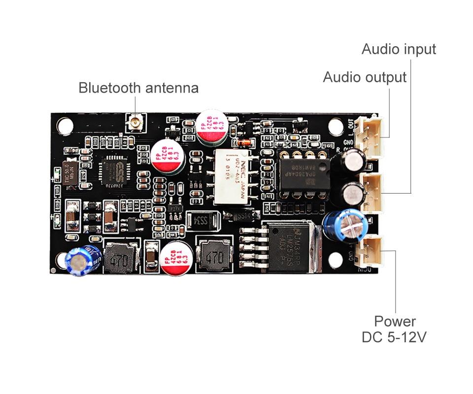 Aiyima Csr8675 Wireless Bluetooth 5 0 Receiver Board Es9018 Aptx I2s Dac Decoder Board Dac With Antenna Support 24bit 96khz Amplifier Aliexpress