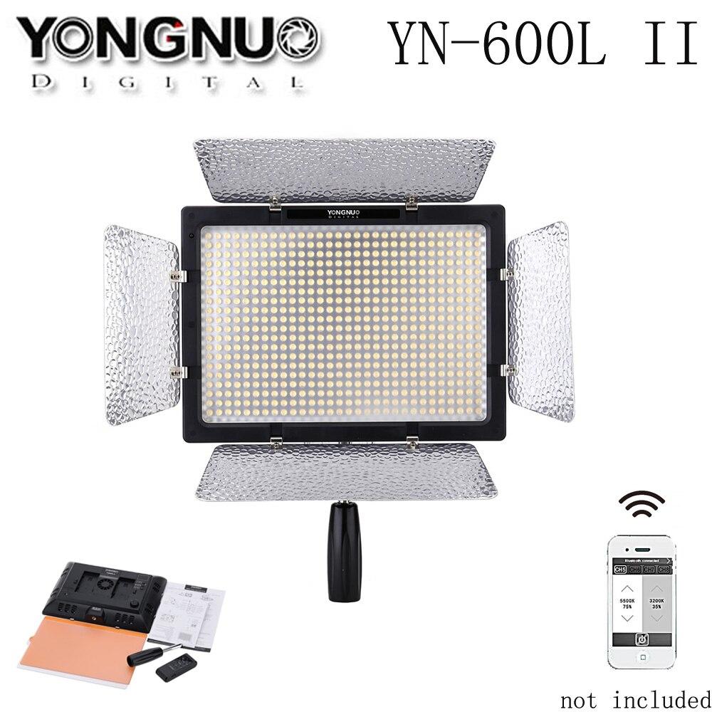 Yongnuo YN-600L ii 600 led video studio luz 3200-5500 k fotografia lâmpada de luz para canon nikon sony pentax olympus câmera luz