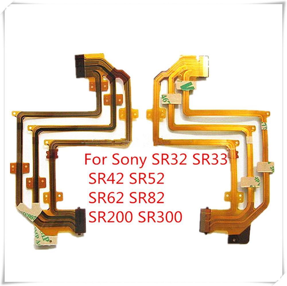 Superbuenos calidad nuevo cable flexible de LCD para SONY DCR-SR32E DCR-SR33E DCR-SR42E DCR-SR52E DCR-SR62E SR32 SR33 SR82 cámara de vídeo